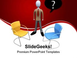 Which Job To Choose Business PowerPoint Templates And PowerPoint Backgrounds 0511