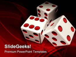 White Dices Game PowerPoint Templates And PowerPoint Backgrounds 0211