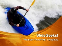 Whitewater Surfing Sports PowerPoint Templates And PowerPoint Backgrounds 0411