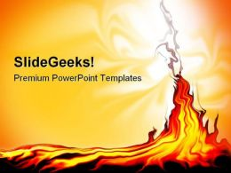 Wild Fire Abstract PowerPoint Templates And PowerPoint Backgrounds 0411
