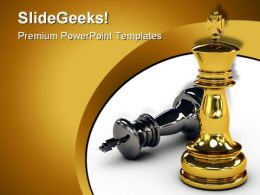 Win Leader Sport PowerPoint Template 0810