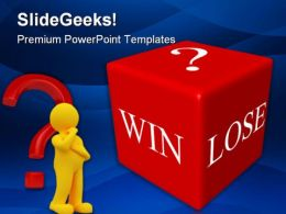Win Lose Business PowerPoint Templates And PowerPoint Backgrounds 0311
