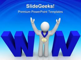 Win People Business PowerPoint Backgrounds And Templates 1210