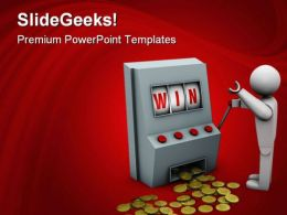 Win With Slot Machine Sports PowerPoint Templates And PowerPoint Backgrounds 0611