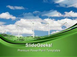 Wind Farm Technology PowerPoint Templates And PowerPoint Backgrounds 0711
