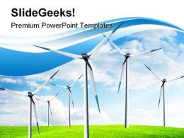 Wind Power Turbine Industrial PowerPoint Templates And PowerPoint Backgrounds 0211