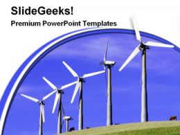 Windmills Renewable Energy Science PowerPoint Templates And PowerPoint Backgrounds 0311