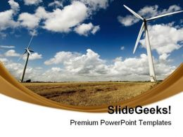 Windmills Renewable Energy Science PowerPoint Templates And PowerPoint Backgrounds 0711