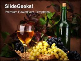 Wine01 People PowerPoint Template 0810