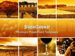Wine Montage Nature PowerPoint Templates And PowerPoint Backgrounds 0811