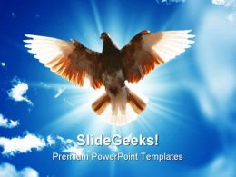 Wings Of Freedom Animals PowerPoint Templates And PowerPoint Backgrounds 0811