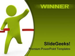 Winner Business PowerPoint Template 1110