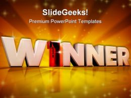 Winner Leadership Business PowerPoint Backgrounds And Templates 1210