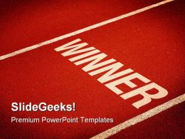 Winner Success PowerPoint Templates And PowerPoint Backgrounds 0811