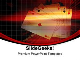 Winning Cards Game PowerPoint Templates And PowerPoint Backgrounds 0511
