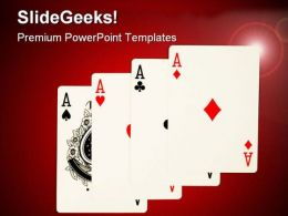 Winning Cards Game PowerPoint Templates And PowerPoint Backgrounds 0611