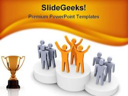 Winning Team Competition PowerPoint Template 0810