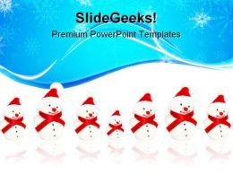 Winter Snowmen Festival PowerPoint Templates And PowerPoint Backgrounds 0911