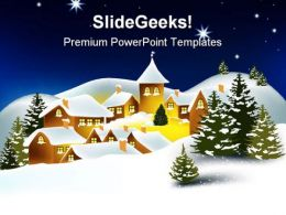 Winter Town Festival PowerPoint Templates And PowerPoint Backgrounds 0811