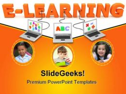 Wired To E Learning Children PowerPoint Backgrounds And Templates 1210