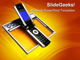 Wireless Browser Internet PowerPoint Templates And PowerPoint Backgrounds 0711