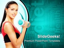 Woman Fitness Health PowerPoint Templates And PowerPoint Backgrounds 0911