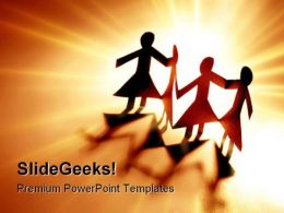 Women Team Teamwork PowerPoint Backgrounds And Templates 0111