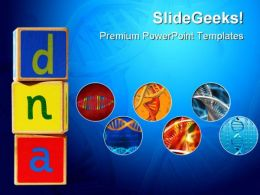 Wooden Blocks Dna Science PowerPoint Templates And PowerPoint Backgrounds 0211