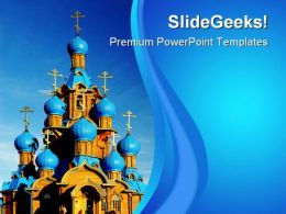 Wooden Church Religion PowerPoint Templates And PowerPoint Backgrounds 0611