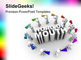 Word Of Mouth People PowerPoint Template 0810