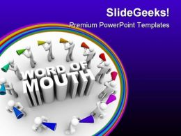 Word Of Mouth People PowerPoint Templates And PowerPoint Backgrounds 0611