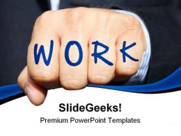 Work Written On Hand Abstract PowerPoint Templates And PowerPoint Backgrounds 0911