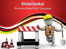 Worker Construction PowerPoint Templates And PowerPoint Backgrounds 0711