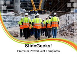 Workers Construction PowerPoint Templates And PowerPoint Backgrounds 0411