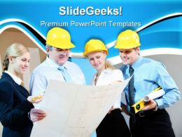 Workers Group Construction PowerPoint Templates And PowerPoint Backgrounds 0711