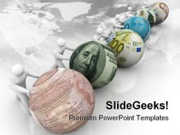 World Currency Globe PowerPoint Template 1110