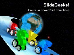 World Economy Race Globe PowerPoint Templates And PowerPoint Backgrounds 0811