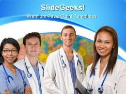 World Health Team Medical PowerPoint Templates And PowerPoint Backgrounds 0911