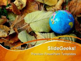 World In Autumn Globe PowerPoint Templates And PowerPoint Backgrounds 0411