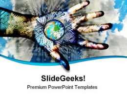 World In Hand01 Technology PowerPoint Templates And PowerPoint Backgrounds 0311