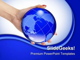 World In Hand Global PowerPoint Templates And PowerPoint Backgrounds 0311
