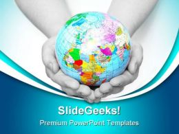 World In Hands Globe PowerPoint Templates And PowerPoint Backgrounds 0311
