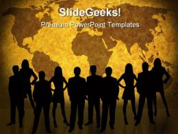 World Map And People Business PowerPoint Templates And PowerPoint Backgrounds 0611