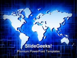 World Map Geographical PowerPoint Templates And PowerPoint Backgrounds 0511