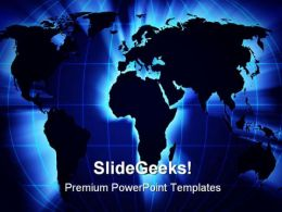 World Map Globe PowerPoint Backgrounds And Templates 1210