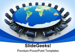 World Meeting Business PowerPoint Backgrounds And Templates 1210