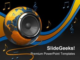 World Music Globe PowerPoint Templates And PowerPoint Backgrounds 0211