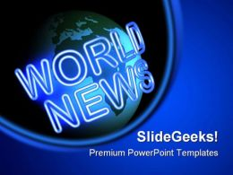 World News Business People PowerPoint Template 0810