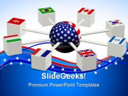 World Servers Communication PowerPoint Templates And PowerPoint Backgrounds 0711