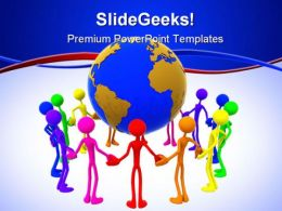 World Unity People PowerPoint Template 1110